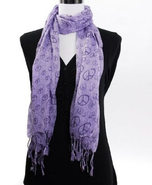 Lavender Peace Sign Scarf 2011