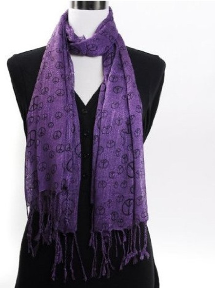 Purple Peace Sign Scarf 2013