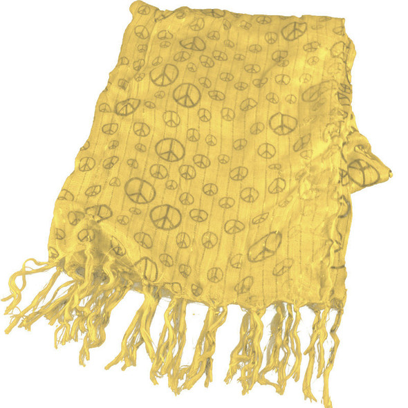 Yellow Peace Sign Scarf 2016
