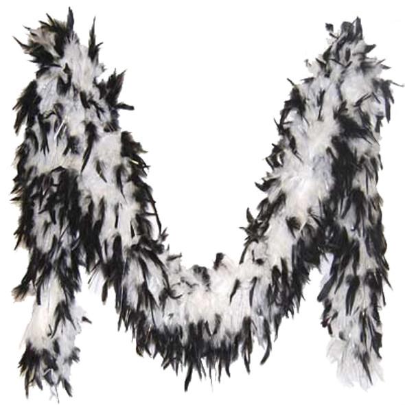 Black and White Feather Boa 2027
