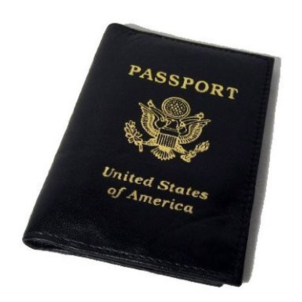 Passport Cover Black 3041