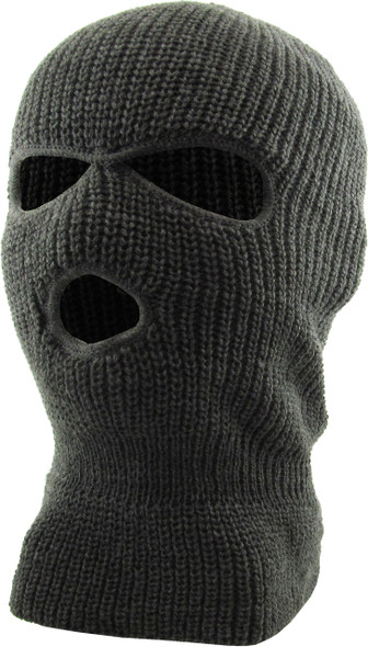 Three Hole Knit Ski Mask - Dark Grey 3058