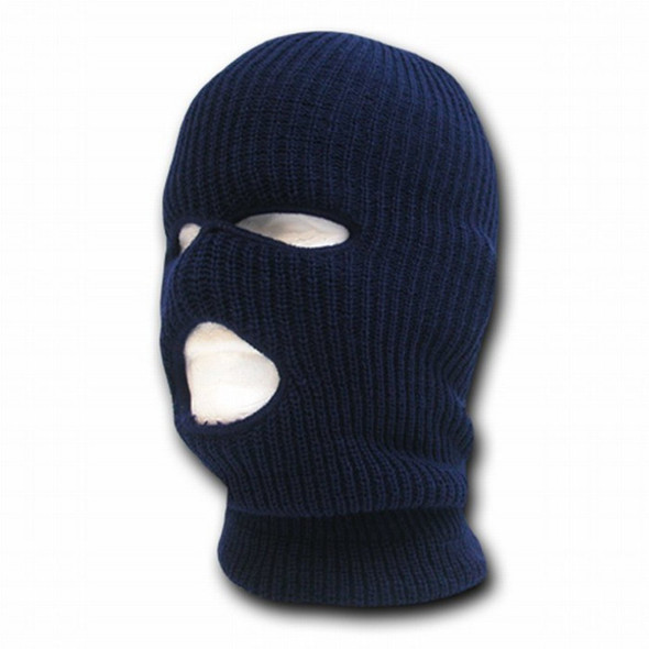 Three Hole Knit Ski Mask - Navy 3059D