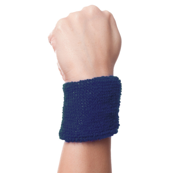 Navy Blue Terry Wristband  - 3071