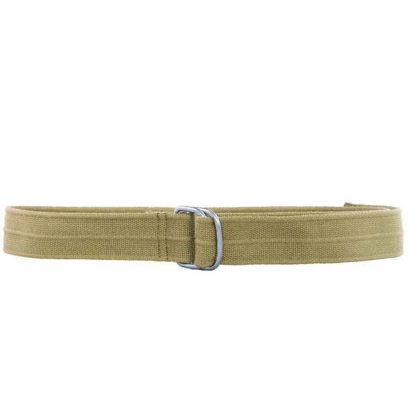 Khaki Military D-Ring Canvas Belt 2241