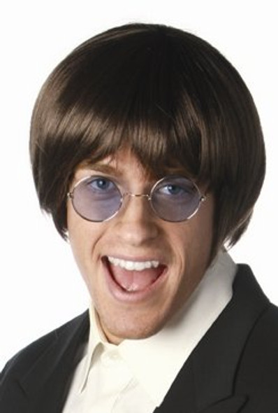 Wig 60's Pop Star Brown Mens Wig 6022