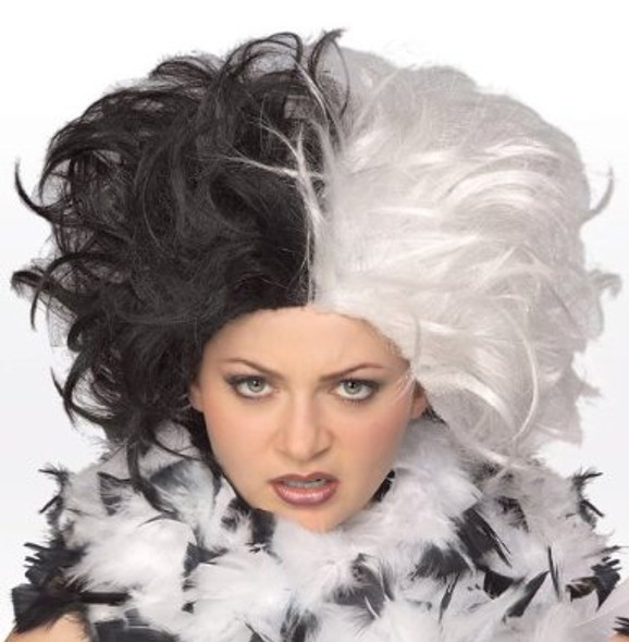 Wig Evil Mistress Black White 6033
