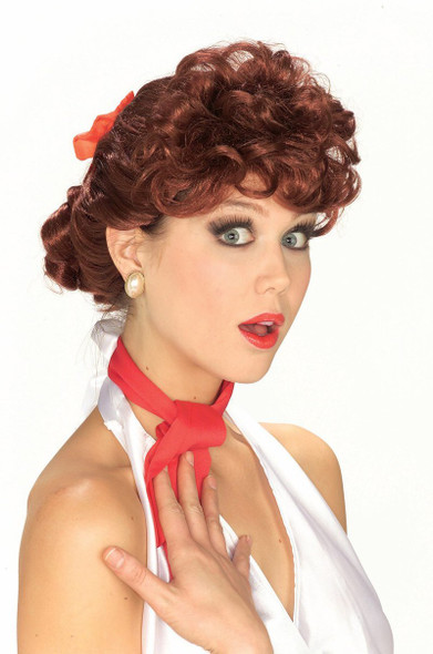 Lucille Ball Wig Curly 50's Auburn Wig 6034