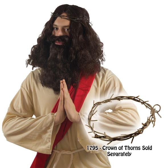 Jesus Wig And Beard Set 6056