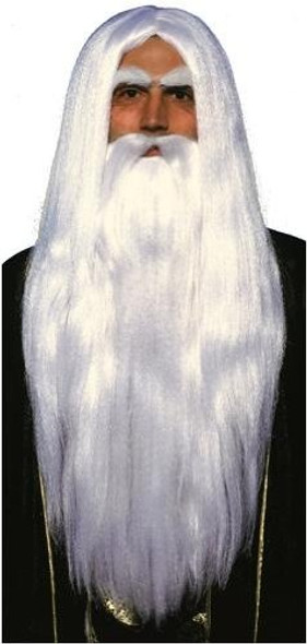 Wizard White Long Wig 6058