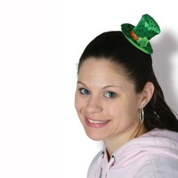 St Patricks Leprechaun Hair Clip Mini Hat 6651