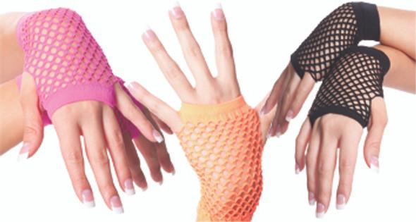 Fishnet Gloves Short Mix Colors 1235a