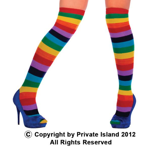 Rainbow Socks Wholesale Bulk   Rainbow Thigh High Wholesale 8010