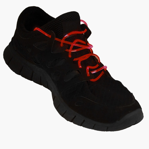 Flashing LED Shoelaces Red 1866