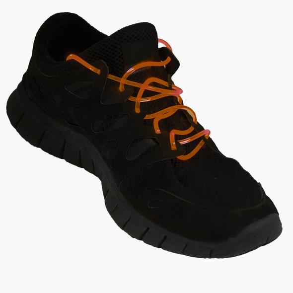 Flashing LED Shoelaces Orange 1867