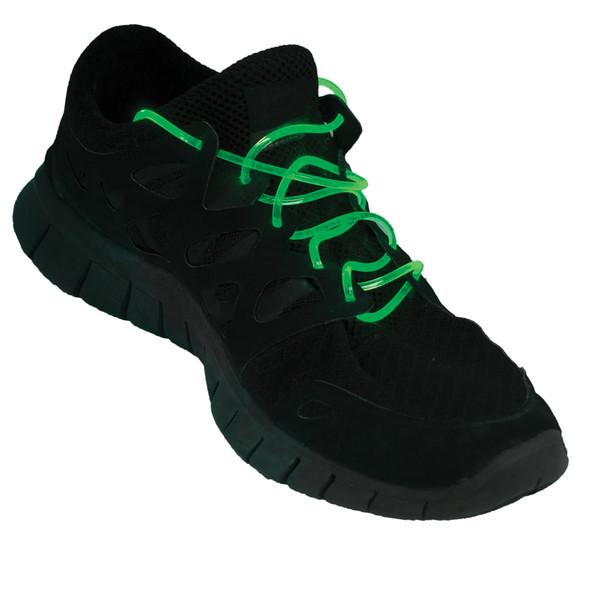 Flashing LED Shoelaces Green 1869