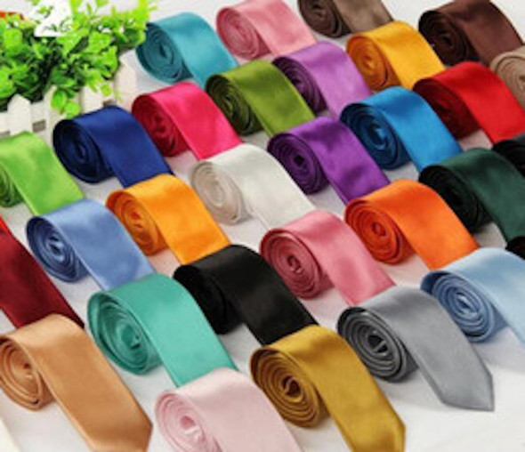 "Skinny Ties 2"" 25+ Colors 12 PACK 1270"