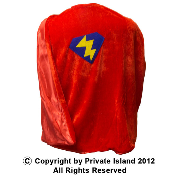 Child Superhero Red Cape 4700