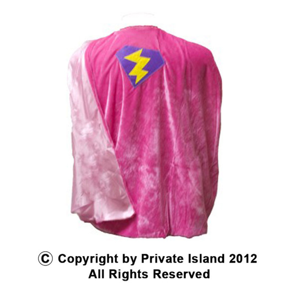 Girls Costume Cape Superhero Pink Cape 4701