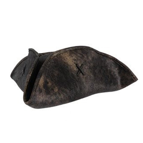 Brown Caribbean Tricorn Pirate Hat Adult Size 1507