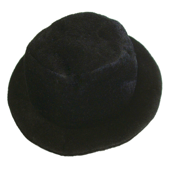 Mini Top Hat Black with Clips Inside 1353A