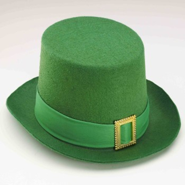 St Patricks Day Hats Green Leprechaun Hat with Gold Buckle 5886