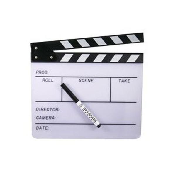 Huge Erasable White Movie Clapperboard 9047