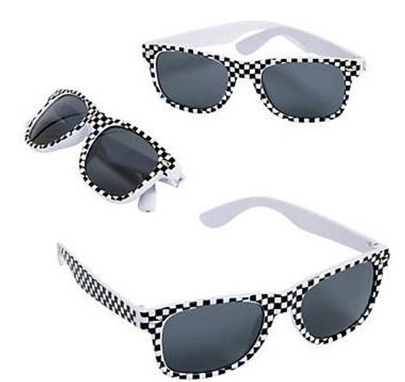 Race Car Sunglasses | Checker Sunglasses  KIDS 1077 12 PACK