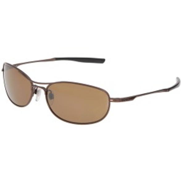 Sports Sunglasses Brown Gold Half Frame/Brown Lens 1127