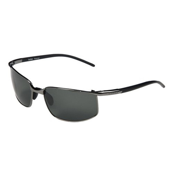 Sports Sunglasses Black Fishing Sunglasses Gun Metal Frame/Black Lens Sunglasses 1128