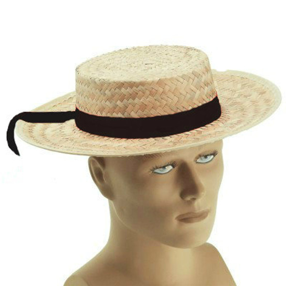 Straw Boaters Hat | Skimmer Hat with Band 1548