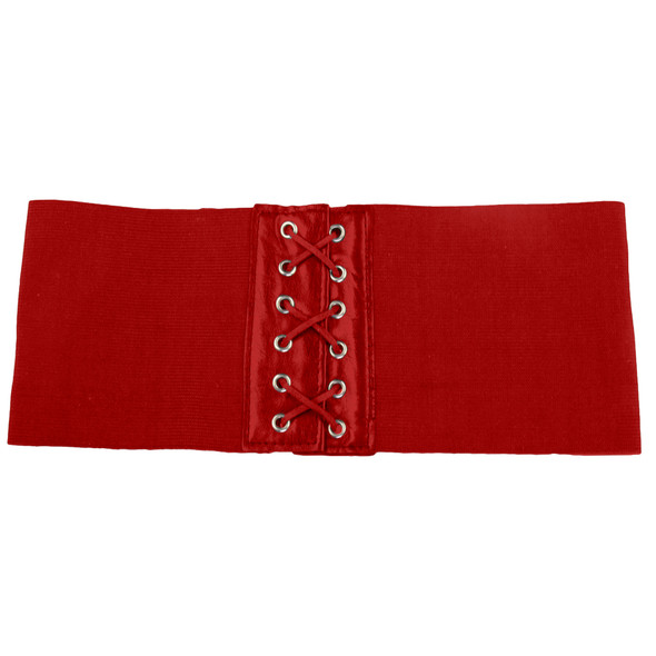 "Red Elastic Stretch 4.5"" Wide Corset Cinch Belt 2201"