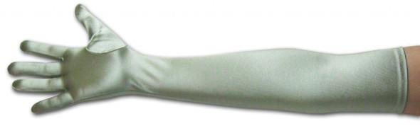 "Satin Opera Gloves Pale Green/Sage Green 23"" 5102"