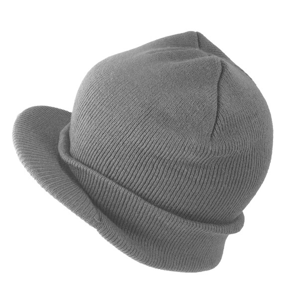 Gray Beanie Visor Cap 5778