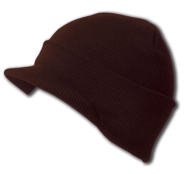 Beanie Visor Cap Brown 5780