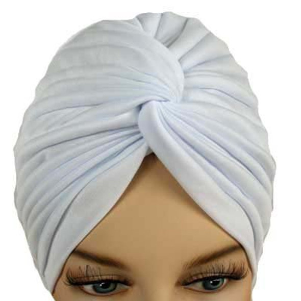 12 PACK White Turban Head Cover Hat 5941
