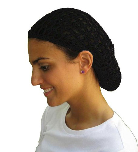 12 PACK Black Crochet Hair Snood 6619
