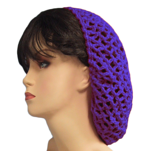 Purple Crochet Hair Snood 6632