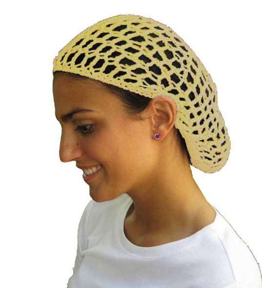 Tan Crochet Hair Snood 6633