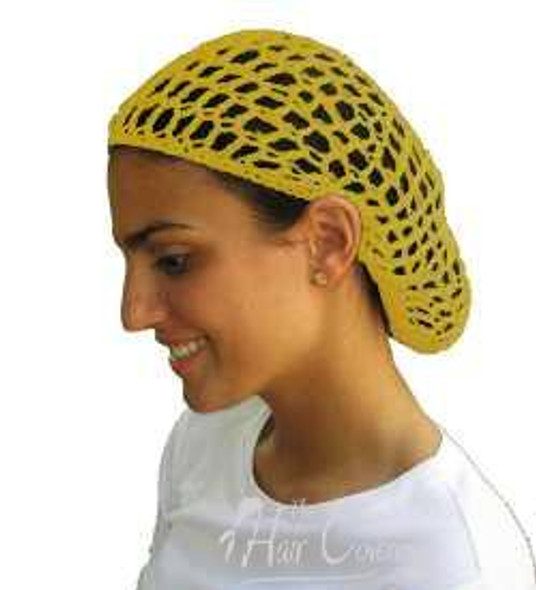 12 PACK Yellow Crochet Hair Snood 6634