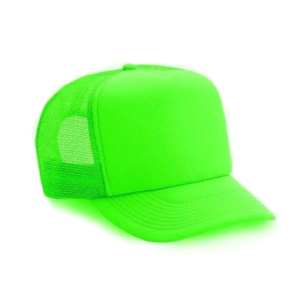Neon Baseball Caps | Neon Green 12 PACK