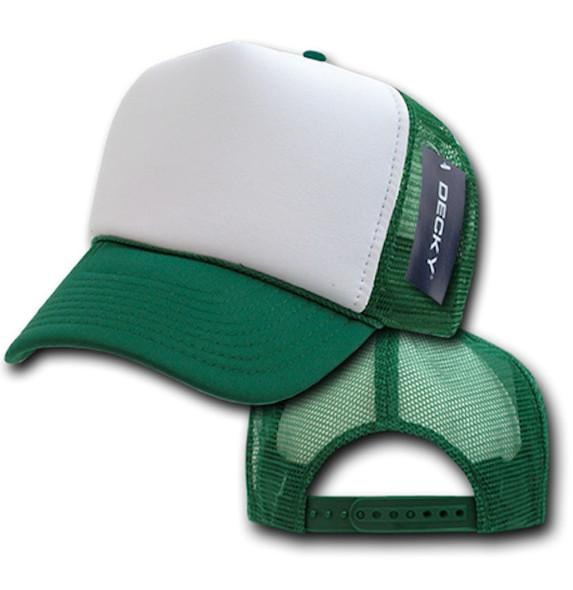Green Trucker Caps |  White Front  12 PACK 1581
