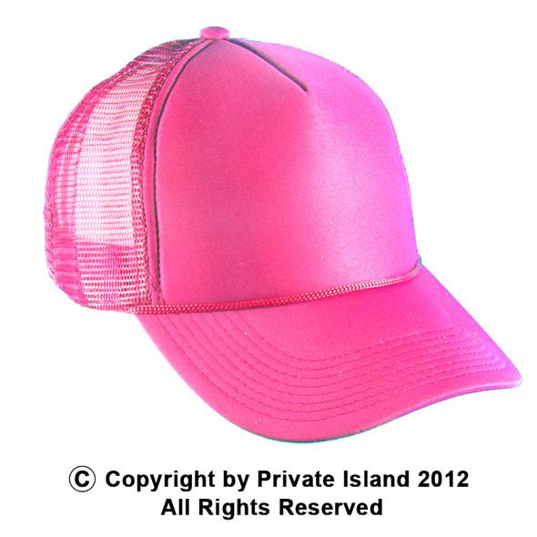 Neon Pink Trucker Caps 12 PACK 1583