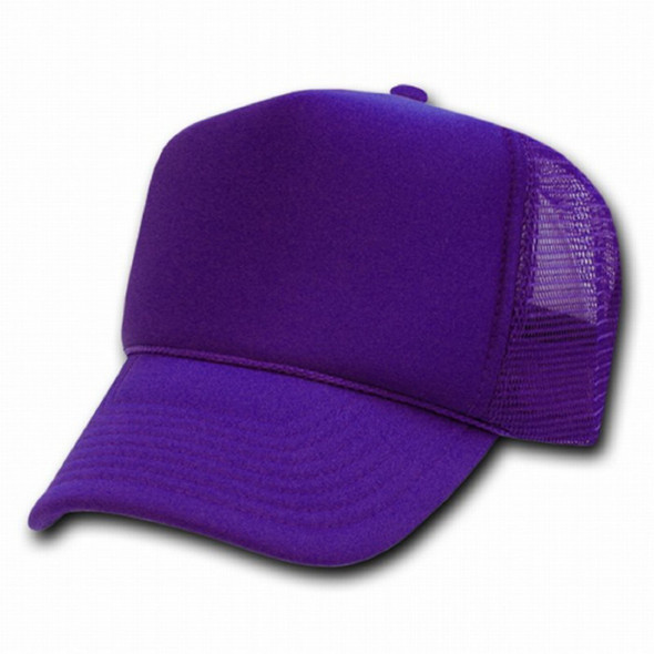 Purple Trucker Caps 12 PACK 1585