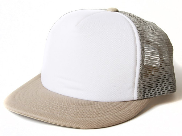 Tan Trucker Caps  | White Front  12 PACK 1586