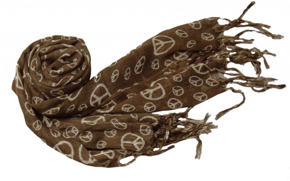 Brown Peace Sign Scarf 2009