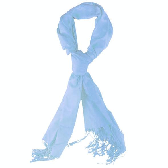 Light Blue Pashmina Shawl 12 PACK 100% Fine Wool Mix 2124