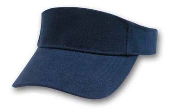 Navy Adjustable Sports Visor 5817