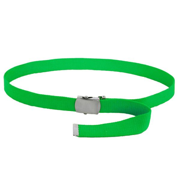 Kelly Green Canvas Adjustable Belt 2226