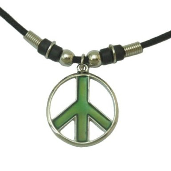 Mood Peace Sign Necklace 6577